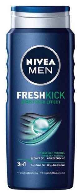 NIVEA*SHOWER Żel p/p 500ml MEN FRESH KICK 81063&
