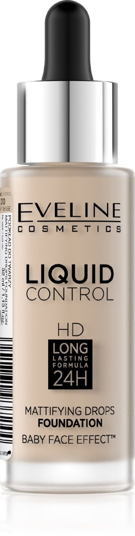Eveline Liquid Control HD Podkład do twarzy z dropperem nr 010 Light Beige 32ml