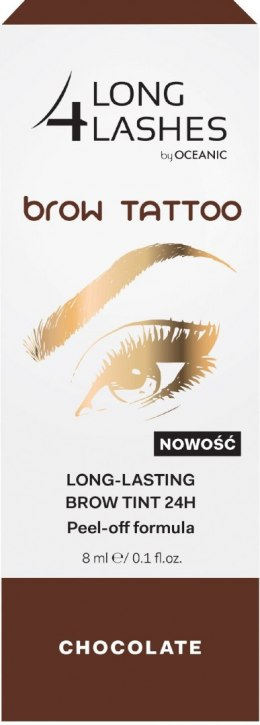 Long 4 Lashes Brow Tattoo Preparat żelowy do brwi 24H Chocolate 8ml