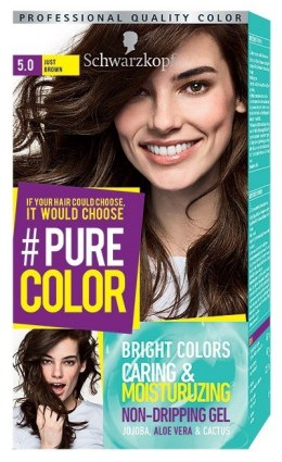 Schwarzkopf Pure Color Farba do włosów w żelu nr 5.0 Just Brown 1op.