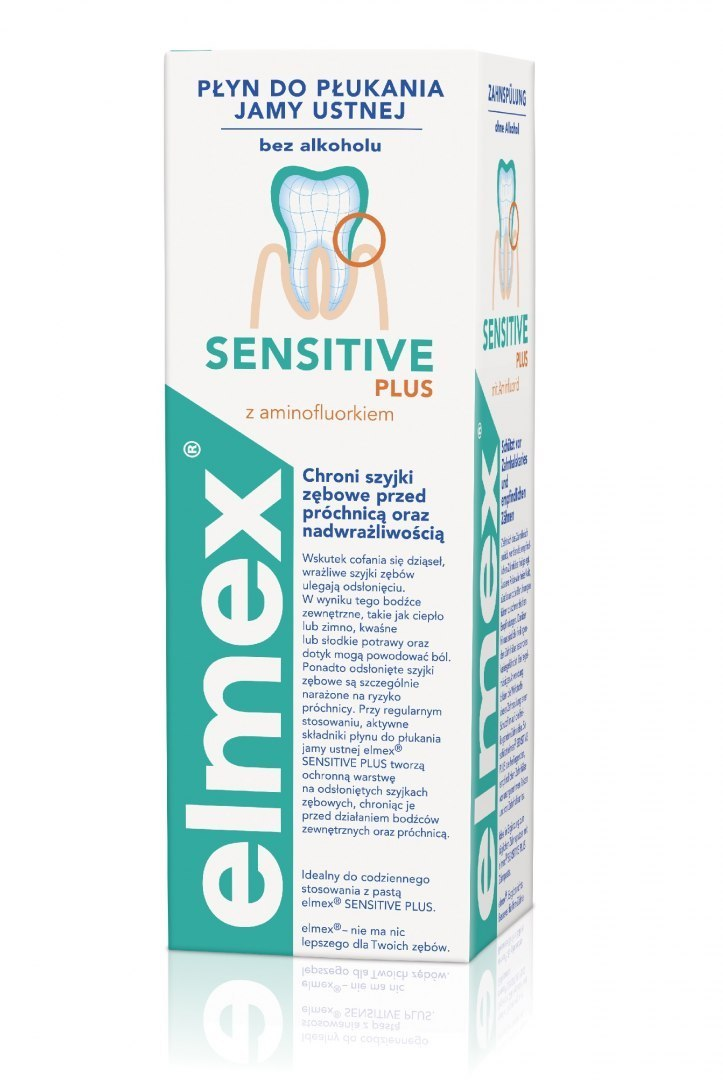 Elmex Płyn do płukania jamy ustnej Sensitive Plus 400ml