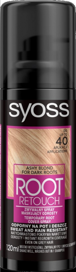 Syoss Root Retoucher Spray maskujący odrosty - Popielaty Blond 120ml