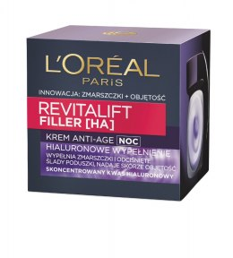 Loreal REVITALIFT FILLER [HA] Krem na noc 50ml