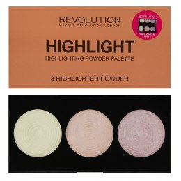Makeup Revolution Highlighter Palette Rozświetlacze Highlight 15g