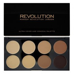Makeup Revolution Ultra Cover and Concealer Palette Korektory Medium-Dark 10g